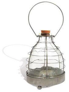 Esschert Design - piège à guêpes en verre et métal 17x17x23cm - Attrape Guêpes