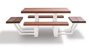 Cassecroute - carré wood - Table Pique Nique