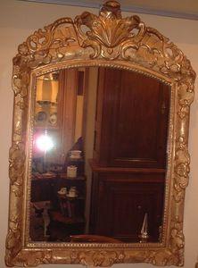 Antiquités La Botte Dorée - glace bois doré - Miroir