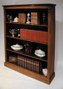 BAGGOTT CHURCH STREET - edwardian sheraton walnut open bookcase - Bibliothèque Ouverte