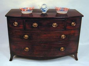 BAGGOTT CHURCH STREET - sheraton mahogany bowfront commode chest - Commode
