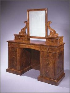 CARSWELL RUSH BERLIN - classical carved mahogany dressing bureau with att - Coiffeuse