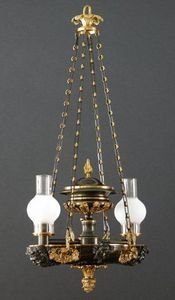 CHARLES AND REBEKAH CLARK - a regency two-light suspended argand - Suspension