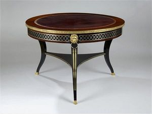 ANTOINE CHENEVIERE FINE ARTS - library table - Table Basse Ronde