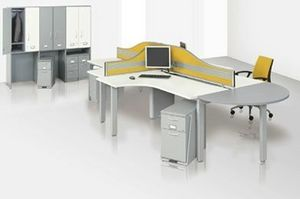 Eurotek Office Furniture - radial work bench - Bureau