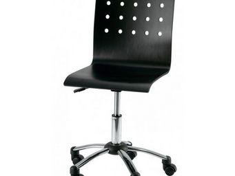 ID'CLIK - chaise de bureau alexia noir - Chaise À Roulettes