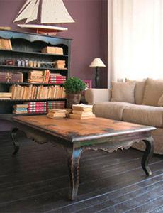BLEU PROVENCE - vintage noir - Table Basse Rectangulaire