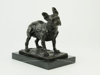 Benneton - bouledogue fran�ais - Sculpture Animali�re