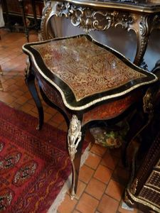 Art & Antiques - petit bureau plat boulle - Table Bureau