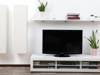 Miliboo - symbiosis compo 12 structure blanche - Meuble Tv Hi Fi