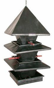 ZOLUX - mangeoire � suspendre 3 �tages pagode en m�tal 27x - Maison D'oiseau