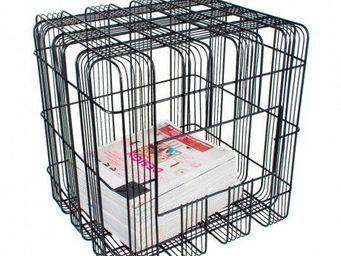 Coming B - comingb - porte-revue pouf cube urban - comingb - - Range Revues