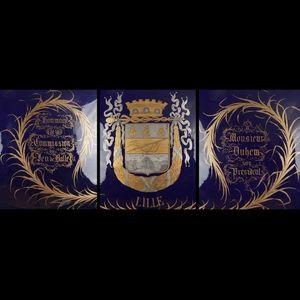 Expertissim - paris. trophée en porcelaine - Trophée