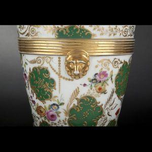 Expertissim - paris. paire de jardinières en porcelaine - Jardinière D'intérieur