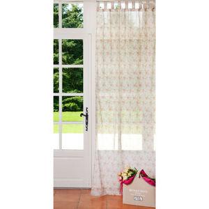 Maisons du monde - rideau floralie voile 105x250 - Rideaux À Passants