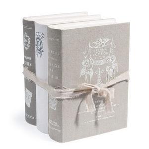 Maisons du monde - boite livres aristo grise - Faux Livre