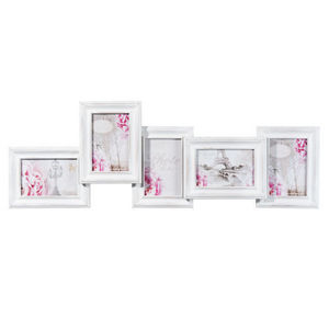 Maisons du monde - cadre 5 vues ninon bois blanc - Cadre Photo