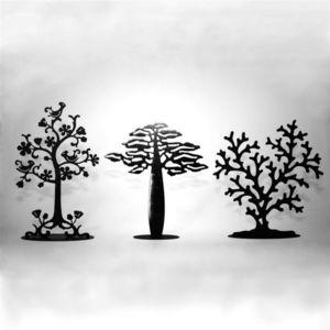 YAN HUBLOT - arbre à bijoux corail finition noir mat - Porte Bijoux