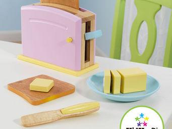 KidKraft - ensemble grille-pain pastel en bois 22x8x14cm - Jouets De Poup�e
