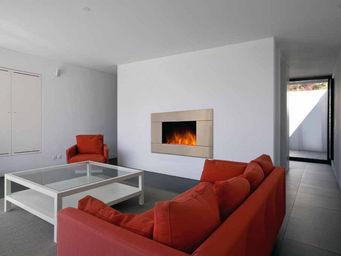 CHEMIN'ARTE - chemin�e design pure inox en acier et inox 90x16x5 - Chemin�e Sans Conduit D'�vacuation