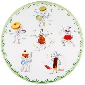 La Chaise Longue - plat � g�teau en porcelaine les gourmandes 30cm - Plat � Tarte