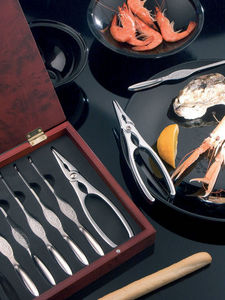 Brandani - coffret crustac�s 8 pi�ces en inox 26x21x4cm - Service � Crustac�s
