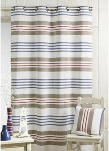 HOMEMAISON.COM - rideau tissé teint rayures horizontales - Rideaux À Oeillets