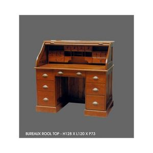 DECO PRIVE - bureau en acajou modele roll top - Scriban