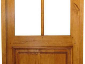 Portes Anciennes - mod�le vitrage surbaiss� 4 carreaux en tilleul - Porte De Communication Vitr�e