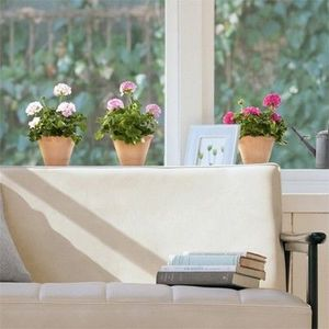 Nouvelles Images - sticker déco vitrage geraniums - Sticker