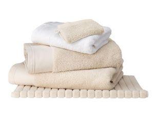 BLANC CERISE - drap de bain ficelle - coton peigné 600 g/m² - uni - Serviette De Toilette