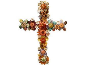 ART UNIC - croix fleurie - D�coration Murale