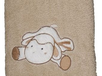 SIRETEX - SENSEI - carr� 100x100cm �ponge brod�e doudou mouton - Serviette De Toilette Enfant