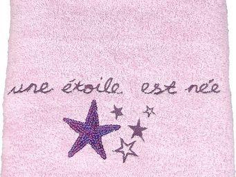 SIRETEX - SENSEI - drap de douche 70x140cm brod� 500 gr/m� star - Serviette De Toilette Enfant