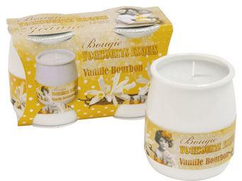 Orval Creations - bougies yoghourts exquis parfum�es vanille bourbon - Bougie Parfum�e