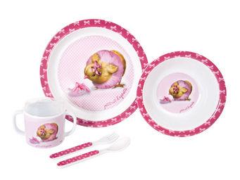 Orval Creations - coffret repas petit rat d'op�rette - Assiette Enfant