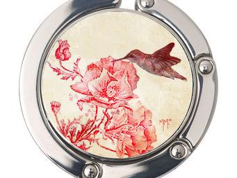 Orval Creations - porte-sac rond colibri - Accroche Sac