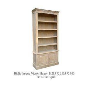 DECO PRIVE - bibliotheque en bois ceruse litterature - Bibliothèque