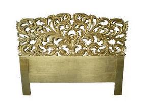 DECO PRIVE - tete de lit 180 cm bois dore et sculptee elise - Tête De Lit