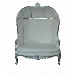 DECO PRIVE - fauteuil carrosse de princesse double imitation cu - Fauteuil Carosse
