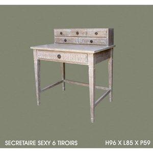 DECO PRIVE - secretaire en bois ceruse sexy - Secrétaire