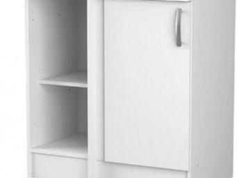 Up Trade - meuble bas de cuisine 1 porte cooky blanc - Meuble De Cuisine
