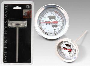 WHITE LABEL - thermométre à viandes en acier inoxydable - Thermomètre À Four