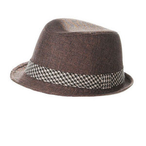 WHITE LABEL - chapeau trilby mixte polyester galon - Chapeau