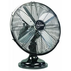 FARELEK - ventilateur � 30 cm de table, 3 vitesses, chrom� f - Ventilateur De Table