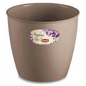 Stefanplast - lot de 3 cache-pots ou pots de fleurs ronds 8.7 l - Cache Pot