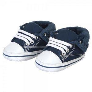 La Chaise Longue - chaussons basket bleu gm - Chausson D'enfant