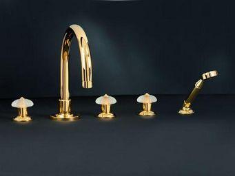 Cristal Et Bronze - star charles x - Mélangeur Lavabo 3 Trous