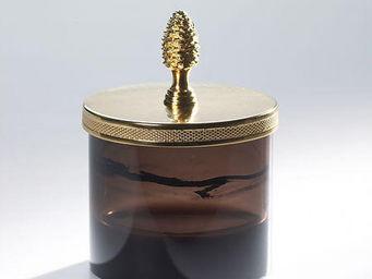 Cristal Et Bronze - obsidienne - Pot À Coton