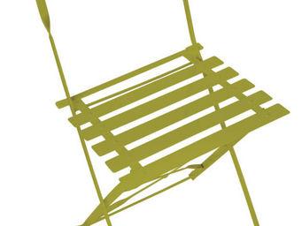 jardindeco - chaise verte bistro en m�tal pour balcon 42x48x82c - Chaise De Jardin Pliante